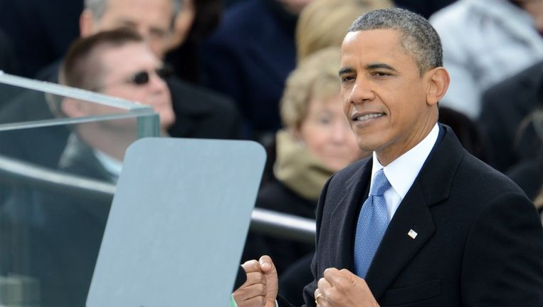 Obama spreekt het Amerikaanse volk toe Beeld afp