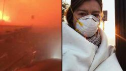 Bloedstollende video: Amerikaanse ontsnapt nipt aan dodelijkste bosbranden in geschiedenis van Californië