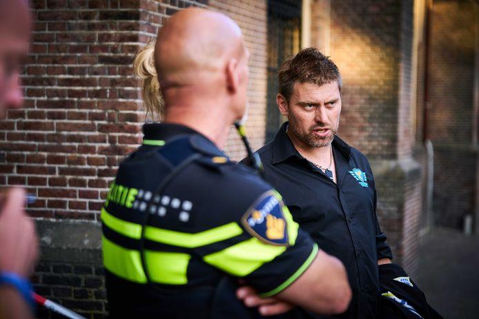 Mark van den Oever van Farmers Defence Force eerder op het Binnenhof.