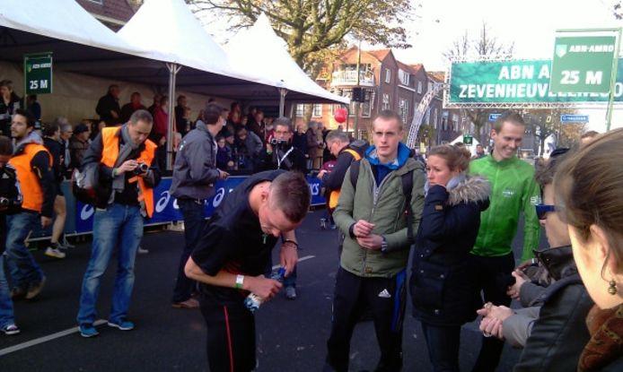 Jesper van der Wielen vlak voor de start van de Zevenheuvelenloop. Foto: Hans de Jong / Twitter