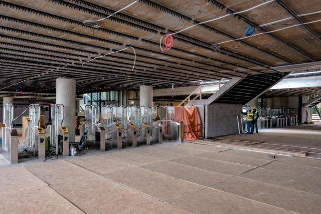 De ov-poortjes werden in september al geïnstalleerd.