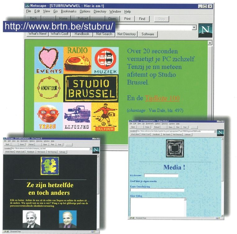 Anja bouwde mee aan de eerste website van Studio Brussel.