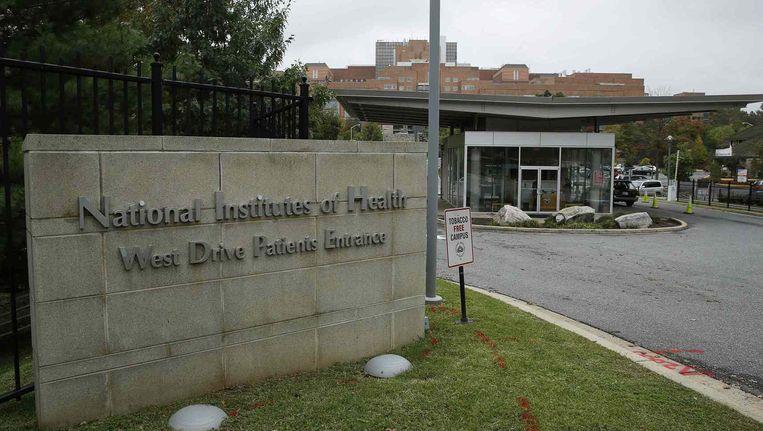 Het ziekenhuis in Maryland waar de hulpverlener verblijft. Beeld reuters