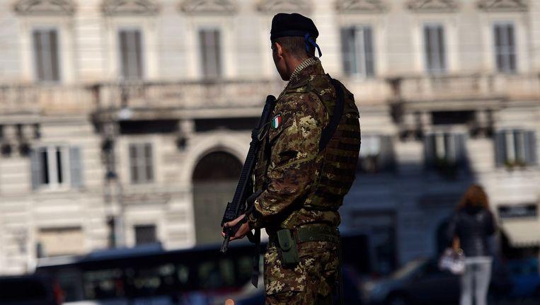 Extra beveiliging maandag in Rome. Beeld afp