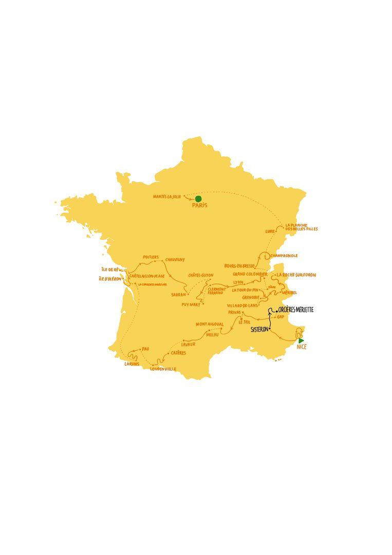 Etappe 4 dinsdag 1 september, Sisteron - Orcières-Merlette Beeld Rosa de Weerd