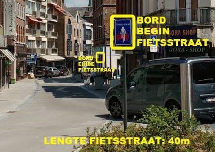 De korste fietsstraat van Vlaanderen