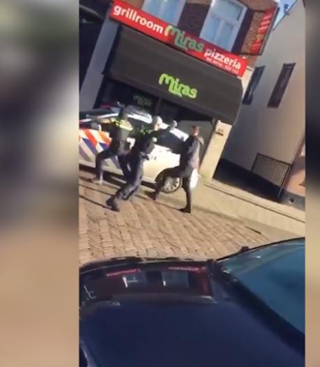 Beelden van agressieve man in Waalwijk gaan rond op social media, politievakbond looft aanpak agenten