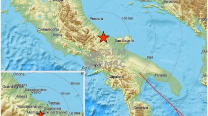 Aardbeving met magnitude 5,1 in centrum van Italië