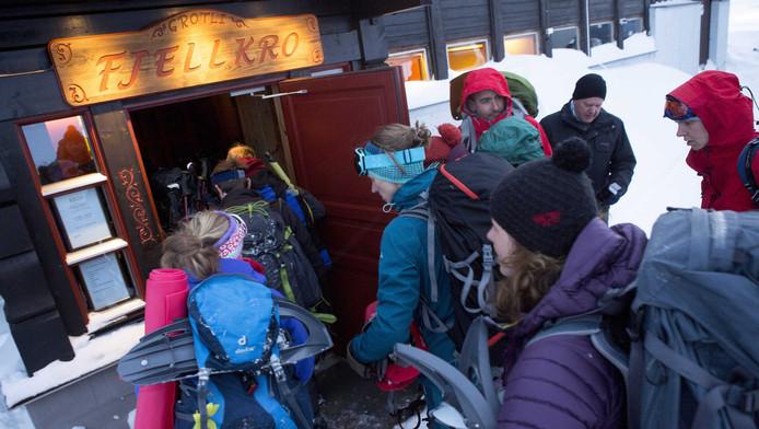 Wandelaars Noorwegen konden niet weg uit hut