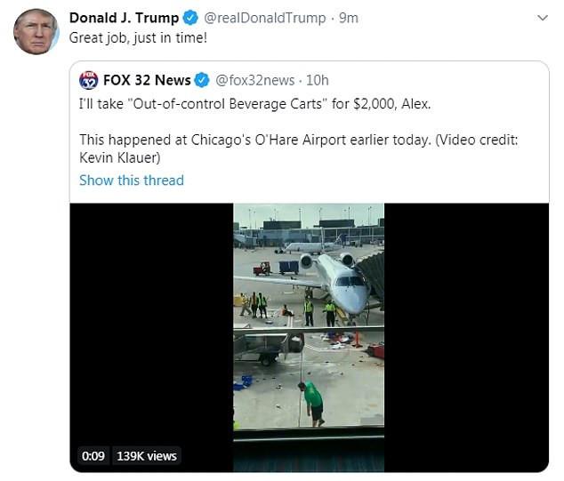 Réaction de Donald Trump