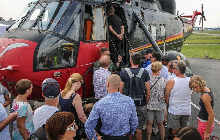 De Seaking had heel wat bekijks op de 100ste verjaardag van International Airport Kortrijk-Wevelgem.
