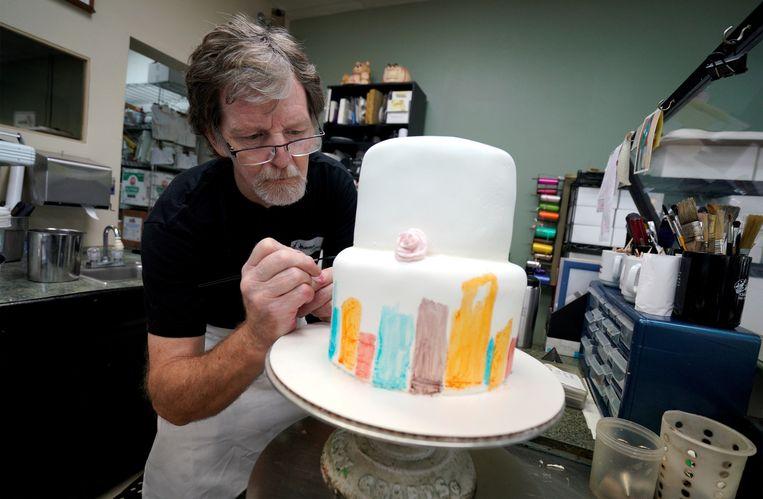 Archieffoto: Jack Phillips in zijn bakkerij.