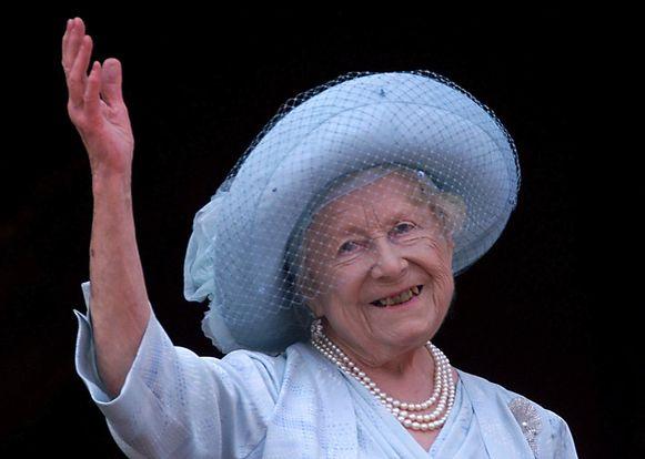 De Queen-Mother overleed in 2002, ze werd 101 jaar oud.