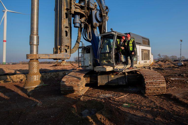 De bouw van de nieuwe frietfabriek is begonnen.