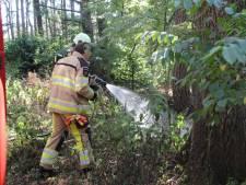 Natuurbrand op de Sallandse Heuvelrug bij Holten