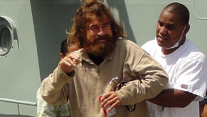 José Salvador Alvarenga na zijn redding.