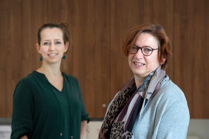 Martine Brouwers (links, specialist ouderengeneeskunde) en Anita Lamper (gz-psycholoog/neuropsycholoog) van Avoord.