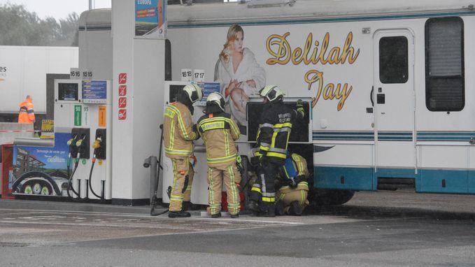 Duits-Brits model Delilah Jay ongewild verantwoordelijk voor evacuatie tankstation
