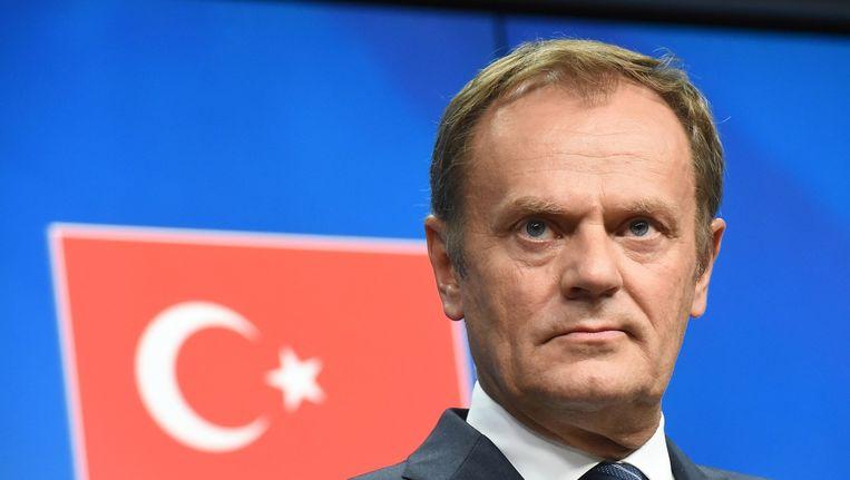 Tusk: Merkel is gevaarlijk... Beeld AFP