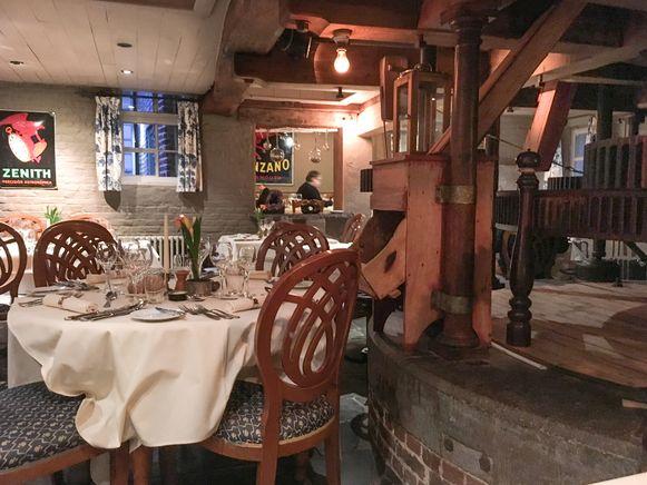 Het binnenwerk van de beschermde watermolen beheerst het interieur van de Mechelse Koekoek.