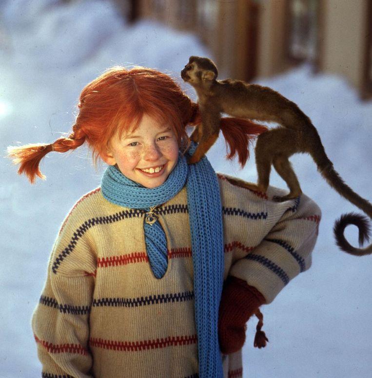 Pippi Langkous en haar aapje meneer Nilsson. Beeld epa