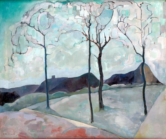 Heuvellandschap van Germ de Jong (1886 -1967)