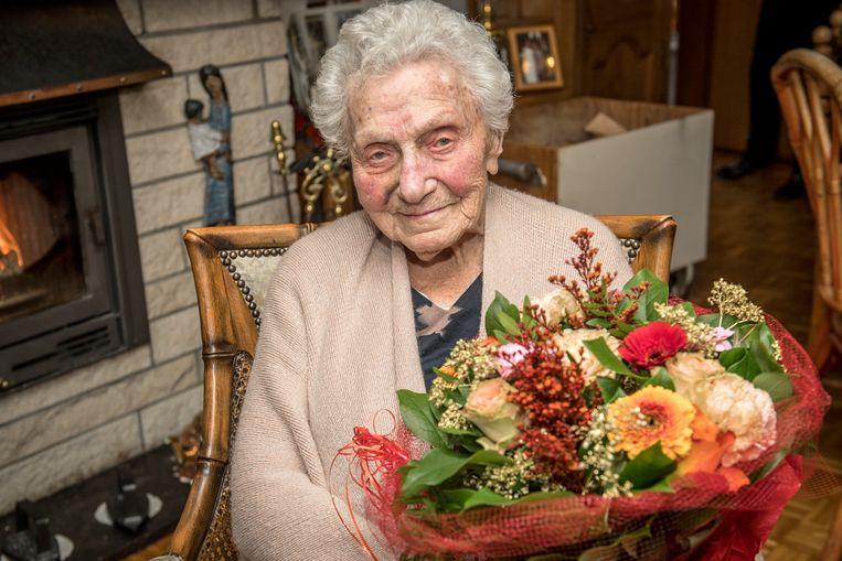 Camilla Van Waeyenberge, zeg maar Lucie, vierde haar 102de verjaardag.