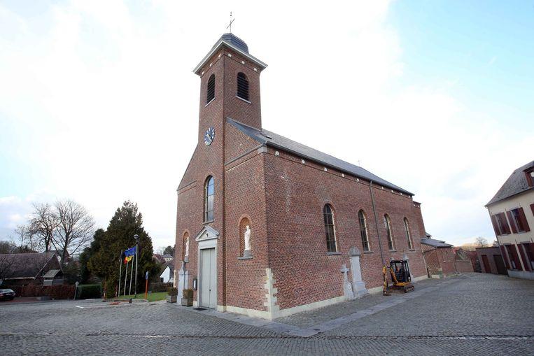 De Sint-Ursulakerk in Eizeringen.