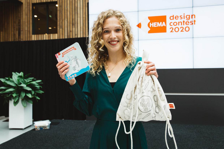 Claudia Bleeker is de winnaar van de Hema design contest 2020 met haar ontwerp Houtje-Touwtje. Beeld Iris Duvekot
