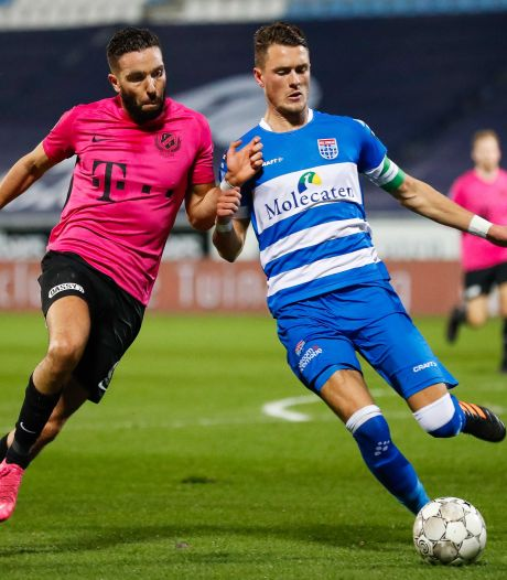 FC Utrecht komt niet verder dan gelijkspel in Zwolle