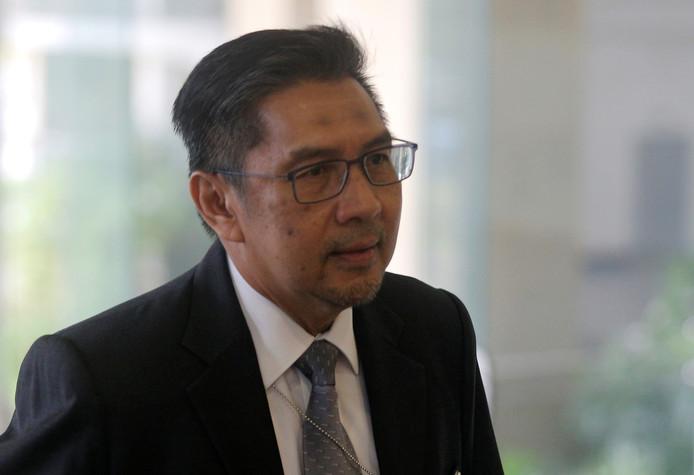 Azharuddin Abdul Rahman, gisteren bij zijn aankomst voor de presentatie van het eindrapport dat het einde van zijn loopbaan als chef van de Maleisische burgerluchtvaart zou betekenen.