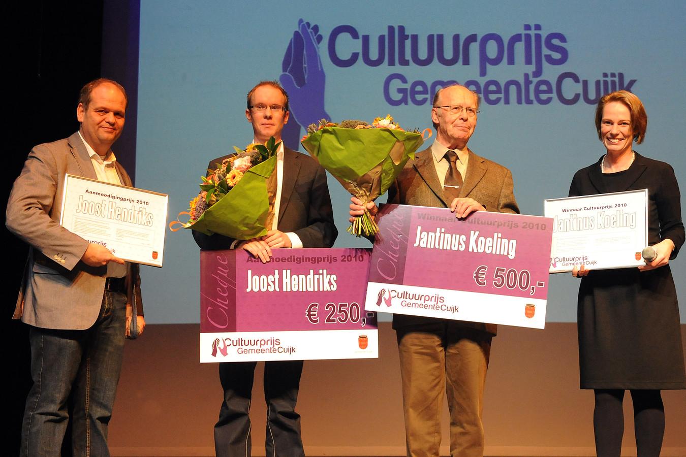 Joost Hendriks (nu wethouder in Cuijk) en Jantinus Koeling vielen in 2011 bij de Cultuurprijs nog in de prijzen.