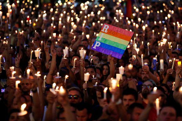 Archiefbeeld: Wake na de homofobe aanslagen in Orlando, Florida in 2016.
