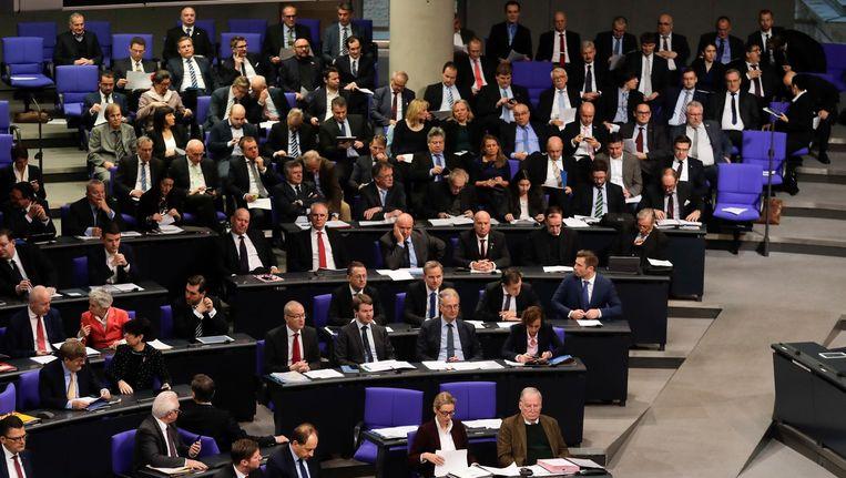De AfD fractie in de Rijksdag. Beeld afp