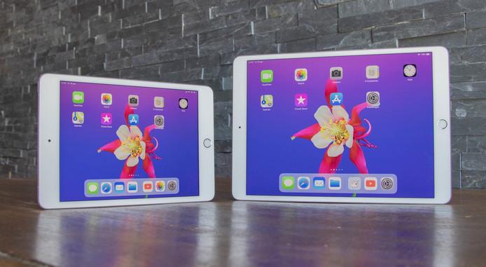 Nieuwe iPad mini (links) en iPad Air, beide uit 2019