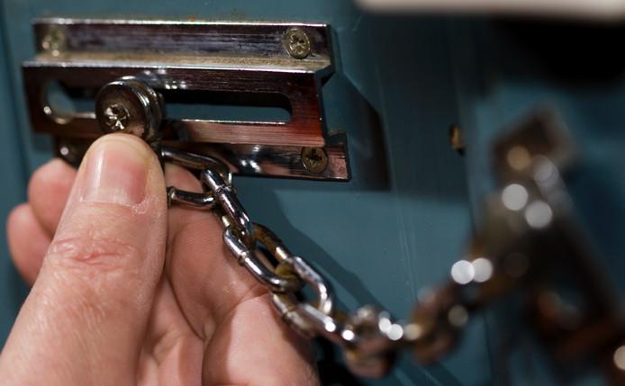Een veilig kettingslot. Foto: ANP