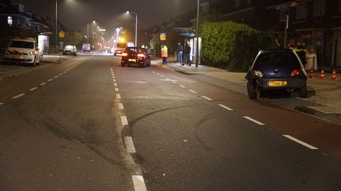 De schade na de aanrijding in Deventer.