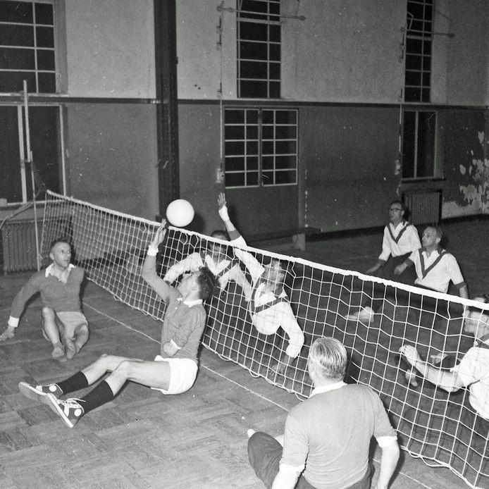 Zitvolleybalwedstrijd tussen Eindhoven en Bergen op Zoom