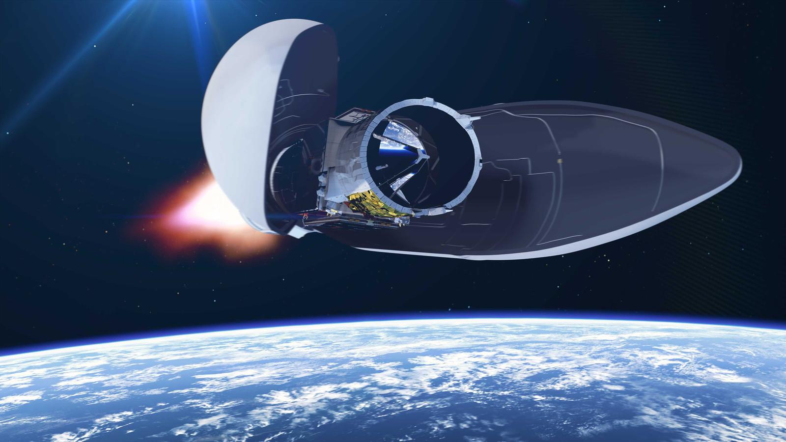 De Aeolus satelliet.