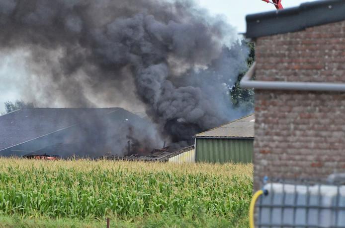 Brand in loods Steenbergen.