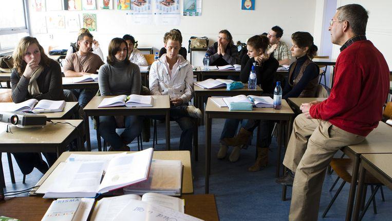 Schoolklas van het ROC in Leiden. © ANP Beeld