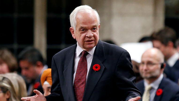 De Canadese minister van Buitenlandse Zaken John McCallum.