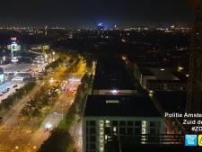 Tweetal klimt in 80 meter hoge hijskraan Amsterdam
