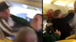 Ruzie over blote voeten loopt uit de hand: passagiers op Ryanair-vlucht slaan elkaar tot bloedens toe