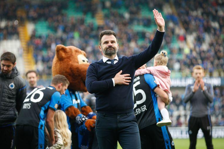 Ivan Leko bij zijn afscheid als trainer van Club Brugge.