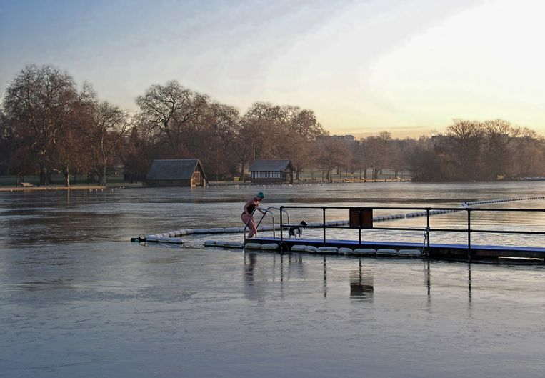 Serpentine Lido Hydepark (Londen, Engeland) Beeld Henk Sloos