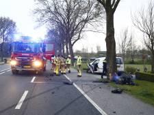 Twee personen gewond geraakt bij botsing met boom in Doornspijk