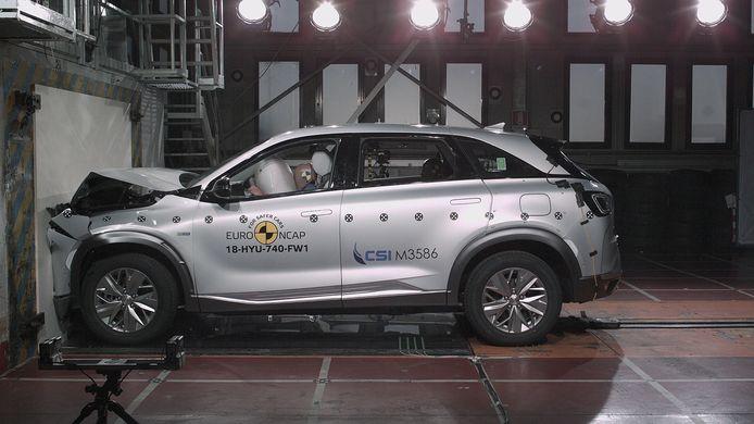 De Hyundai Nexo in de crashtest van EuroNCAP