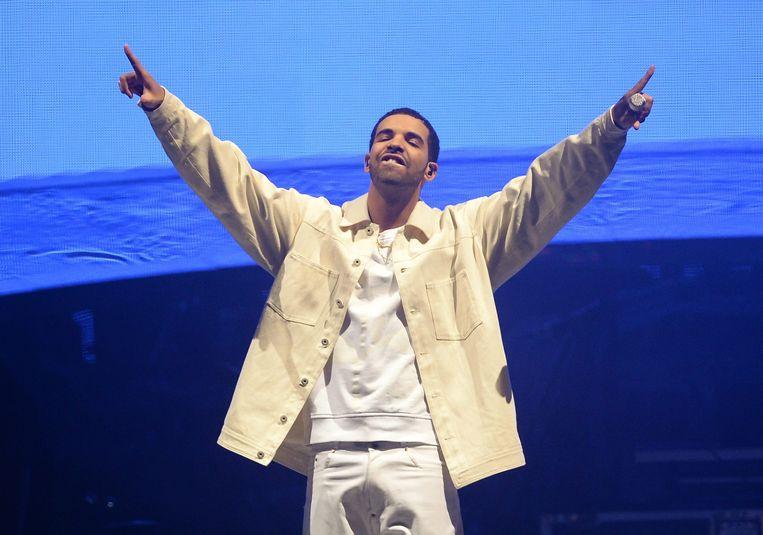 Rapper Drake.  Beeld null