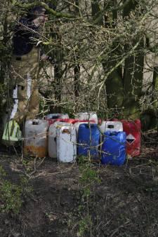Twintig vaten met drugsafval gedumpt in Heijen